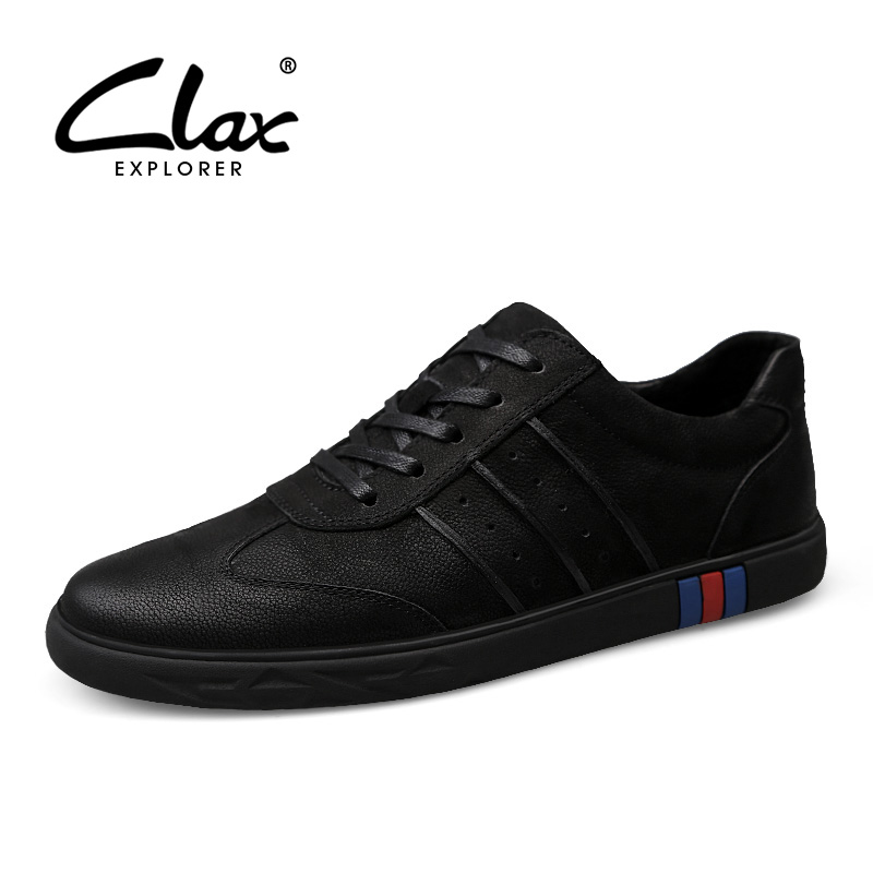 CLAX Men Shoes Genuine Leather Summer Autumn Casual Leather Shoe Male Flats Walking Shoe Sneakers chaussure