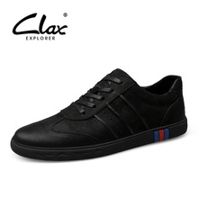 CLAX Men Shoes Genuine Leather Summer Autumn Casual Leather Shoe Male Flats Walking Shoe Sneakers chaussure homme Fashion цена