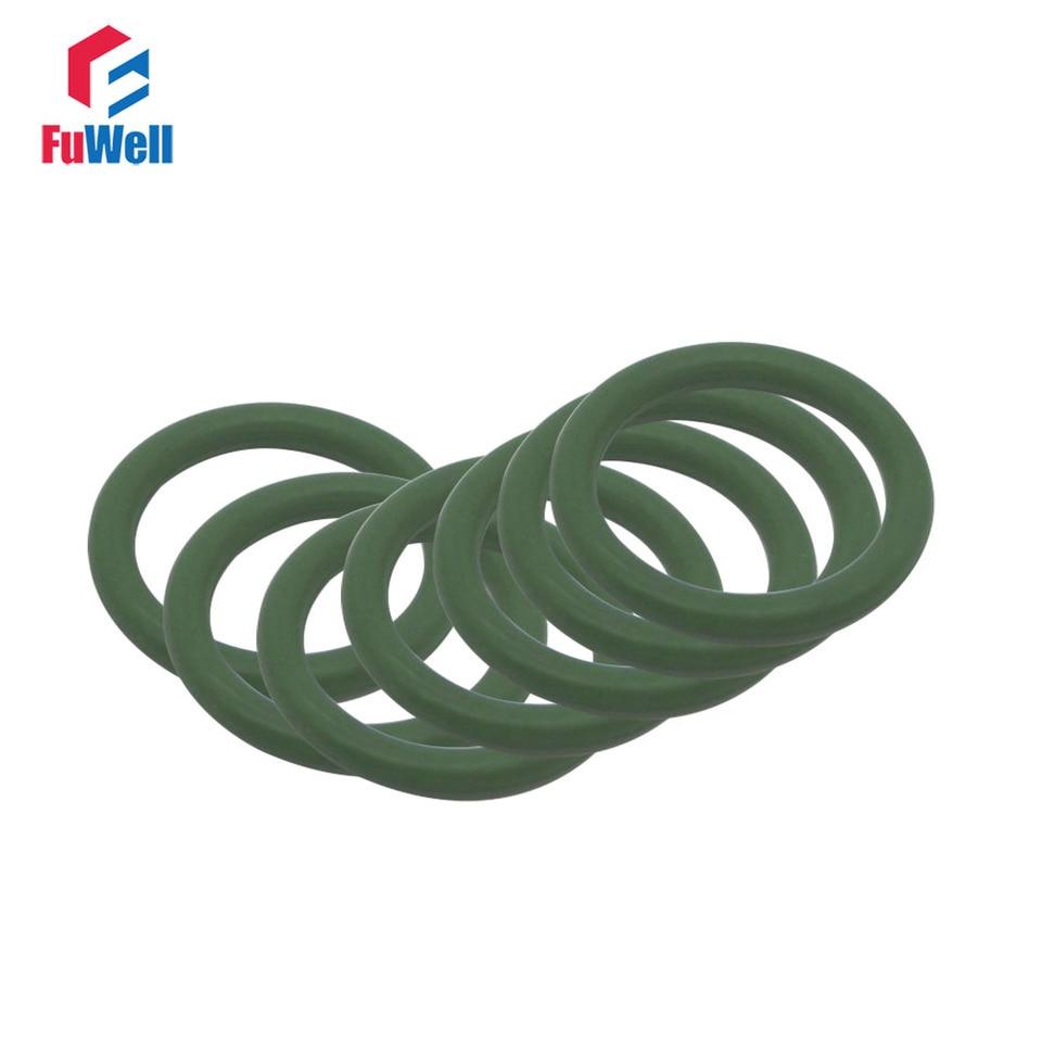 1.5mm Width Fluorine Rubber O Rings 36mm ID 39mm OD Seal Gasket Green 20Pcs