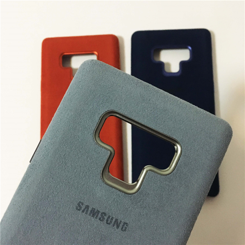 the latest 0296e c93cb US $14.03 46% OFF|Aliexpress.com : Buy Original Official Samsung Galaxy  Note 9 Luxury Leather Alcantara Case Suede Full protection Phone Cover SM  ...