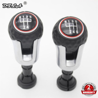 For VW Golf 7 A7 MK7 GTI GTD 2013 2014 2015 2016 2017 2018 Car 5 /6 Speed Car Gear Stick Level Shift Knob With PU Leather Cover
