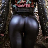 BORNPAVI Fashion Punk Faux Pu Leather Leggings Women Sexy Push Up Black High Waist Pants Female Autumn Winter Trousers Leggings