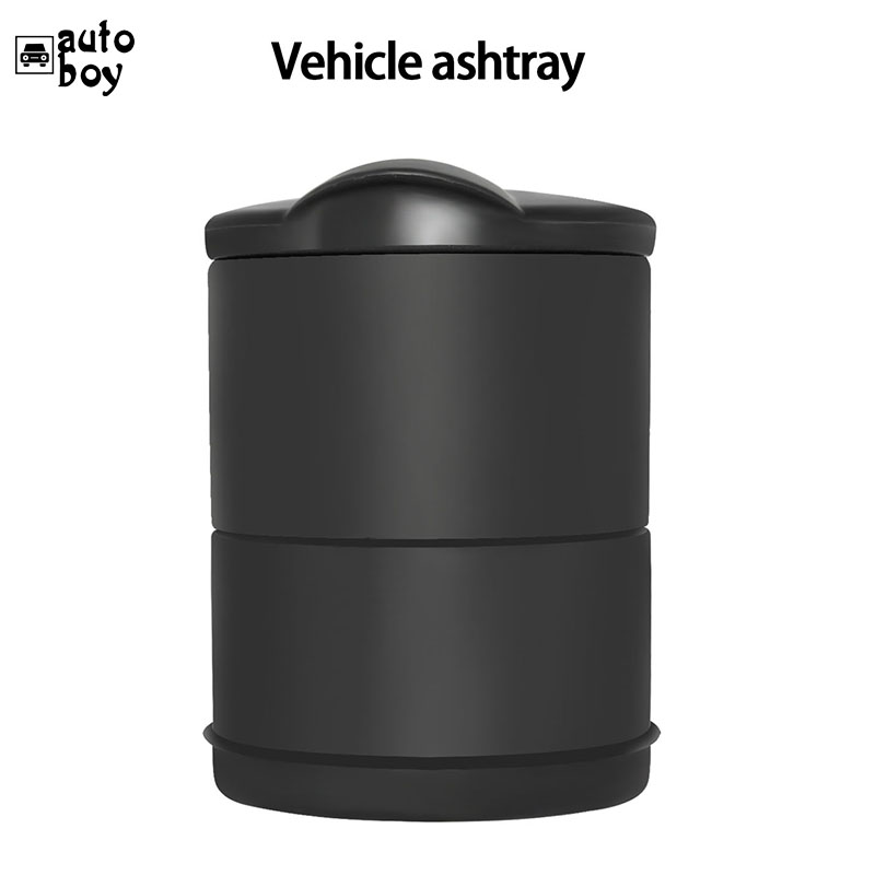 Image 4 - 1PCS Portable Car Ashtray Truck Auto Office Cigarette Ashtray Holder Box Case Black New Arrival Car Styling Storage-in Car Ashtray from Automobiles & Motorcycles