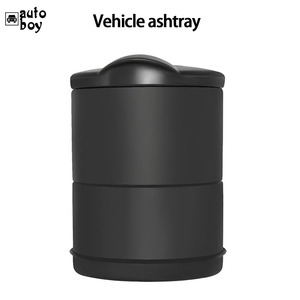 Image 4 - 1PCS Portable Car Ashtray Truck Auto Office Cigarette Ashtray Holder Box Case Black New Arrival Car Styling Storage