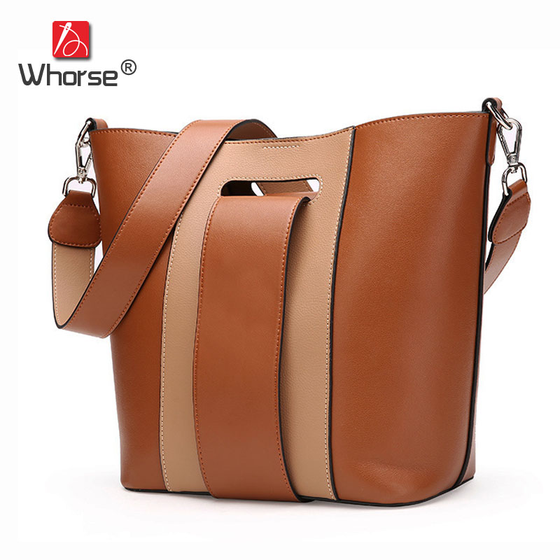 [WHORSE] Womens Messenger Shoulder Bag Vintage Patchwork Belt Women Handbag Casual Tote 2 Bags For Mother W09320 women handbag shoulder bag messenger bag casual colorful canvas crossbody bags for girl student waterproof nylon laptop tote