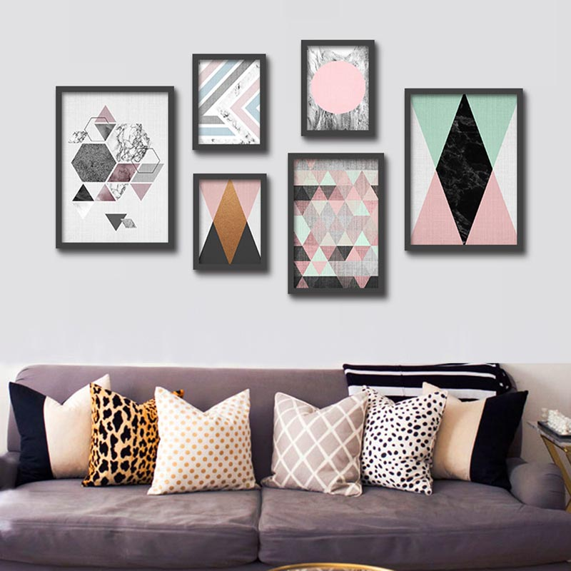 modern abstract typography geometric graphic art canvas