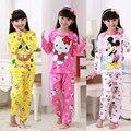 Caçoa o Presente das Crianças pijamas Do Bebê Das Meninas Dos Meninos Outono longo-sleeved fino modelo Ghildren Roupas Encantador dos desenhos animados Pijamas Início pano
