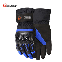 Free Shipping Motorcycle Gloves Waterproof Warm Cold Winter Motorcycle Gloves Riding Gloves RED