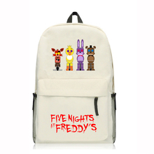 Game Five Nights at Freddy's backpack Canvas Shoulder bag School Bag Travel bag Rucksacks 7 style