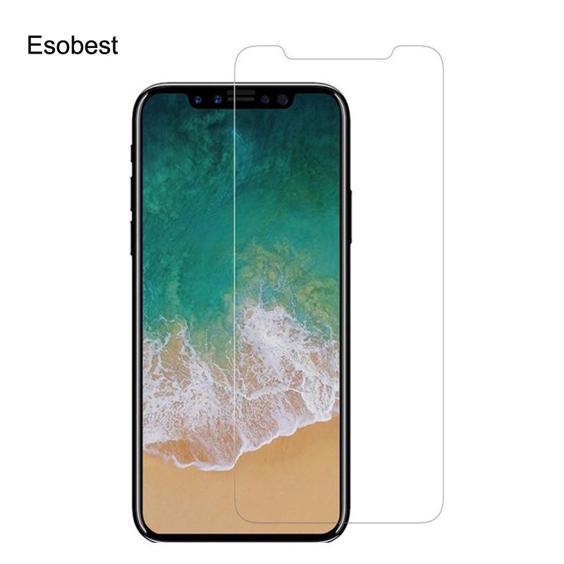 Esobest Diamond Effect sparkle glass for iphone 11pro Xs Max Xr glitter glass Screen Protector for <font><b>iphone6</b></font>/7/8 plus/5 glass <font><b>film</b></font> image