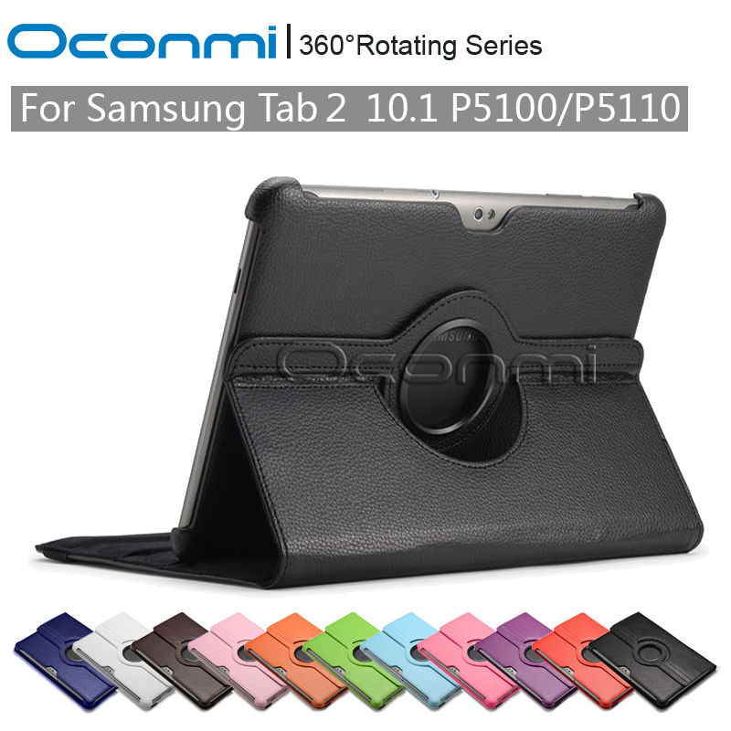 360 Rotating PU Leather case for Samsung Galaxy Tab 2 10.1 inch with stand function SM-P5100 SM-P5110 sleeve Tablet cover cases nf samural