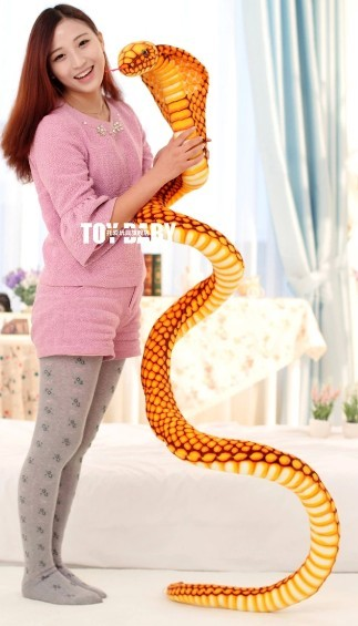 Cobras Plush Toy Snake Doll New Arrived 2.5m Big size Christmas gift Wholesale and Retails