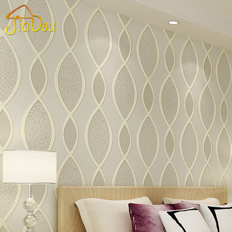 3D Embossed Non-Woven Wallpaper Modern Abstract Geometric Lines Bedroom Study Living Room Wall Decor Wall Covering Wall Paper 10m modern 3d brick white non woven thick embossed wall covering wall paper roll background walls living room bedroom wallpaper