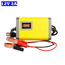 цены на Smart Car Battery Charger 12V 2A Full Automatic AGM VRLA Sealed Lead Acid GEL Intelligent Charger With LCD Display 12V EU/US  в интернет-магазинах