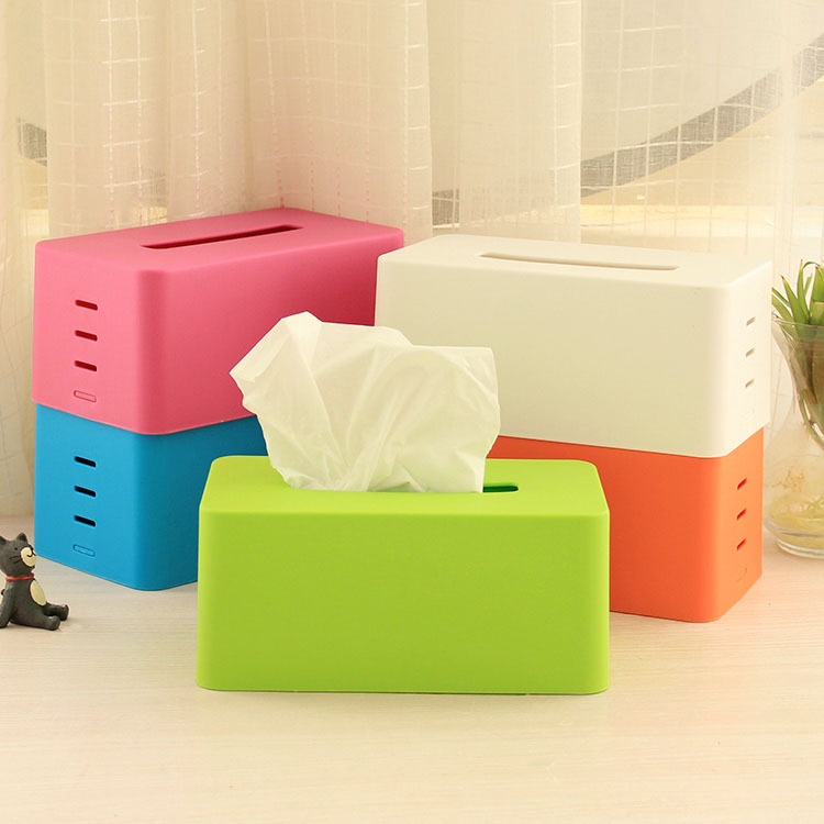 Novelty Plastic Tissue Boxes Napkin Holder for Table Decor Organizer Home Decor Adjustable Lifting Stepped Paper Towel Box