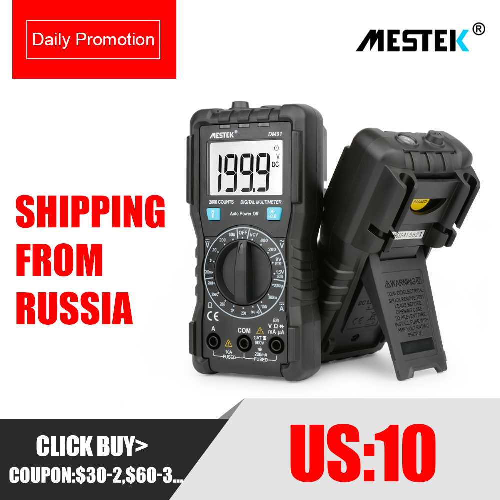 MESTEK DM91/DM91A/DM91S multimètre numérique 9999 compte ampèremètre AC/DC voltmètre Ohm testeur de tension HFE NVC testeur de capacité