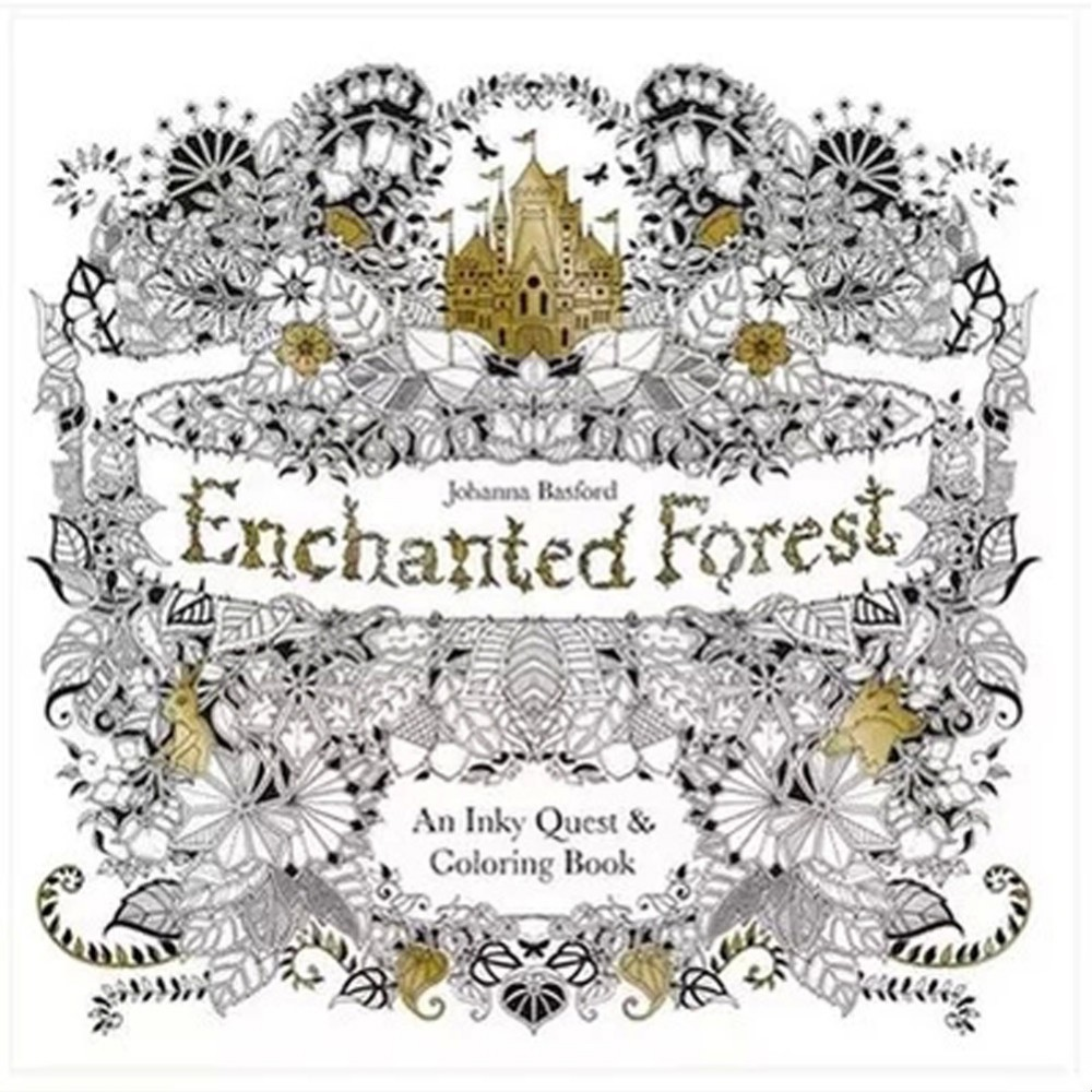 colouring books for adults asda : Ze Zen Garden Colouring Aliexpress Com Buy Enchanted Forest An Inky Quest Coloring Book In
