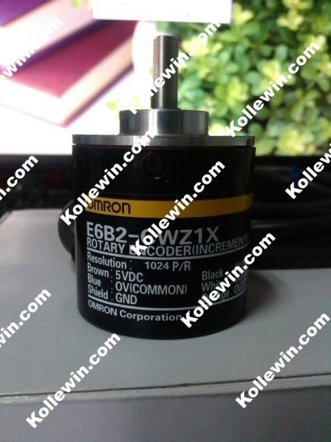 1PC NEW OMR Rotary Incremental Encoder E6B2-CWZ1X 1024P/R  LINE DRVR,5VDC,ABZ PHS,  1024PPR  E6B2CWZ1X  Free Shipping e6a2 cs5c 50p r rotary encoder new e6a2cs5c 50p r 50pr compact size e6a2 cs5c