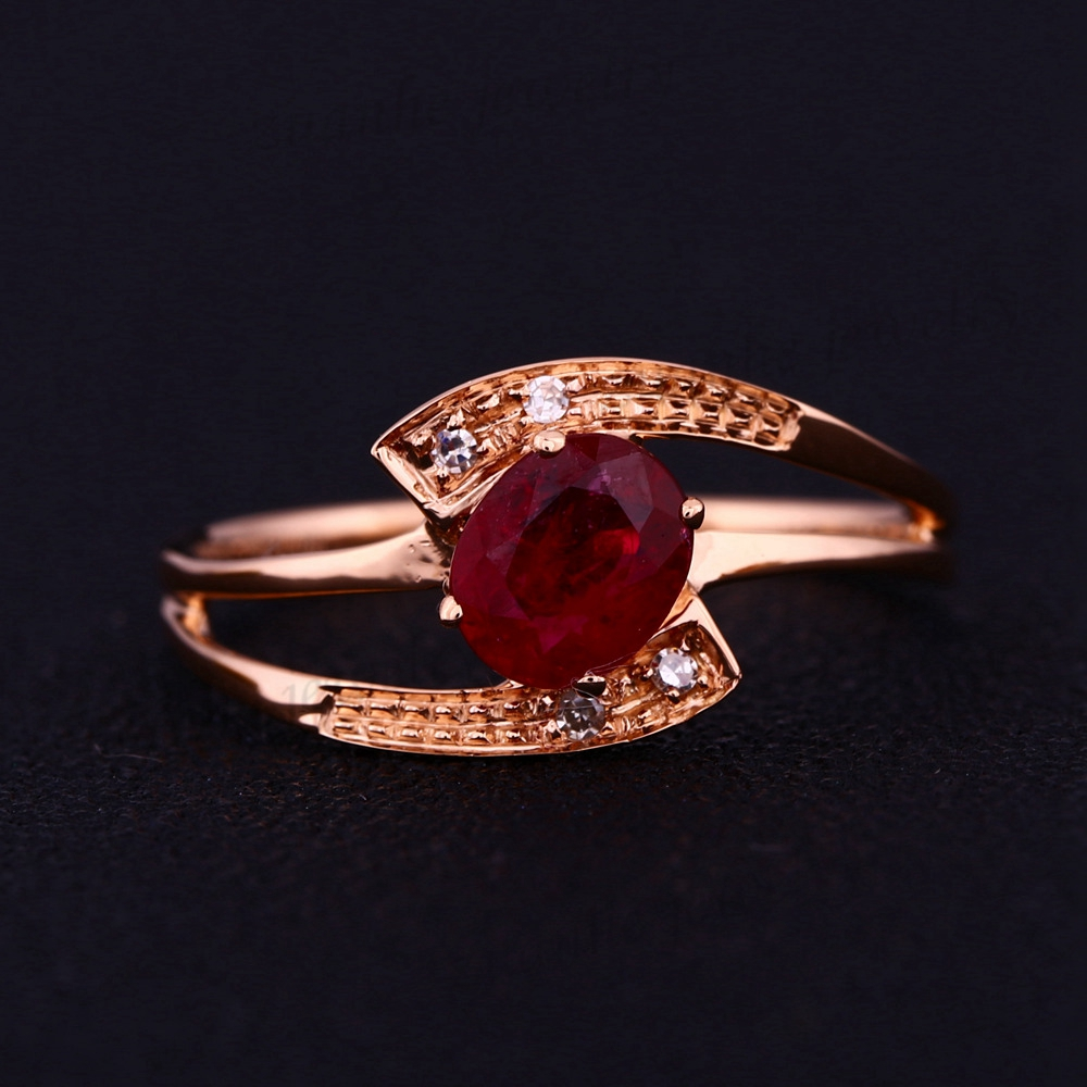4x5mm Oval Cut Ruby Natural Diamonds Solid 14k Rose Gold Wedding Elegant Ring Women Engagement Ring new arrival fantastic natural tourmaline ring with dia in18kt rose gold engagement ring oval 10x12mm wu249