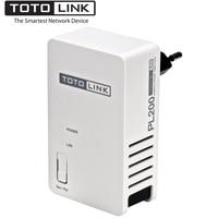 1PCS TOTOLINK PL200 200Mbps Powerline Ethernet Adapter Wired AV200 Network Powerline HomePlug AV Ethernet Bridge Easy