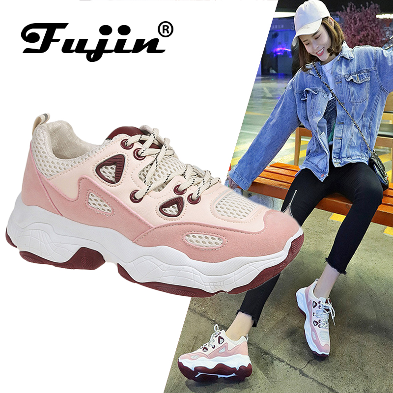 Fujin Old-Shoes Flat Korean-Version Student New of Casual Female Breathable