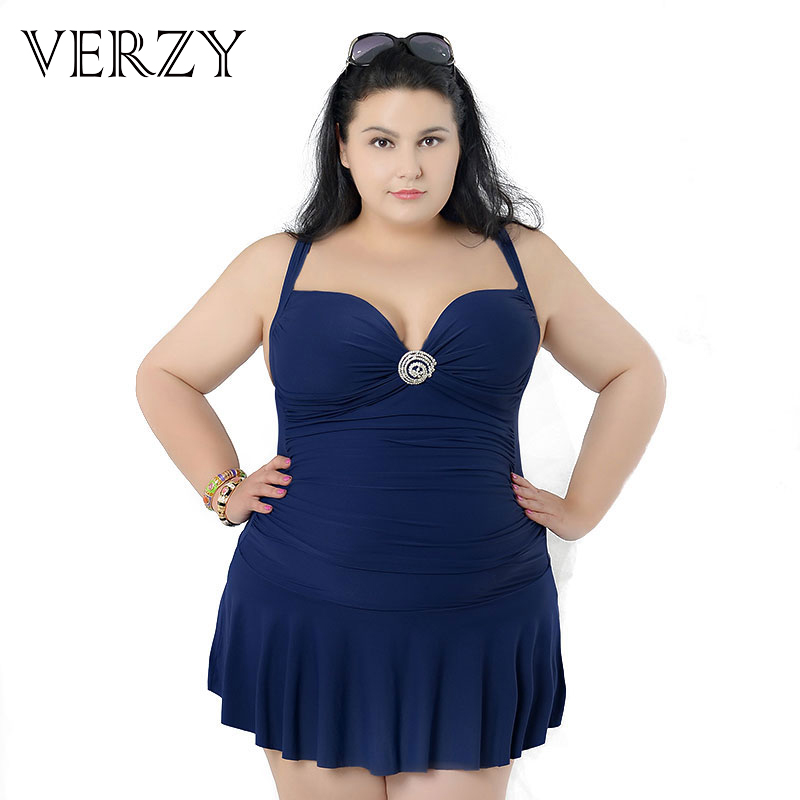 5 Pure colors Large size swimwear for women Plus size women summer beach dress swimsuit Big ladies clothes one pieces swimsuits extra large size or more beach tropical swimsuits one pieces swimwear women 2017 monokini brand
