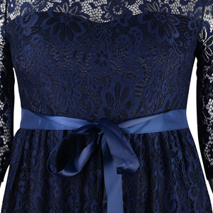 Image 5 - Nemidor High Quality Women Elegant O neck Party Full Lace Dress Plus Size 7XL 8XL 9XL 3/4 Sleeve Vintage Wedding Long Maxi Dress