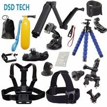 DSD TECNOLOGÍA para GoPro Accesorios con 3 Vías grip monopod monte chest harness para go pro hero 4 5 3 2 1 sj4000 sjcam eken h9 08A