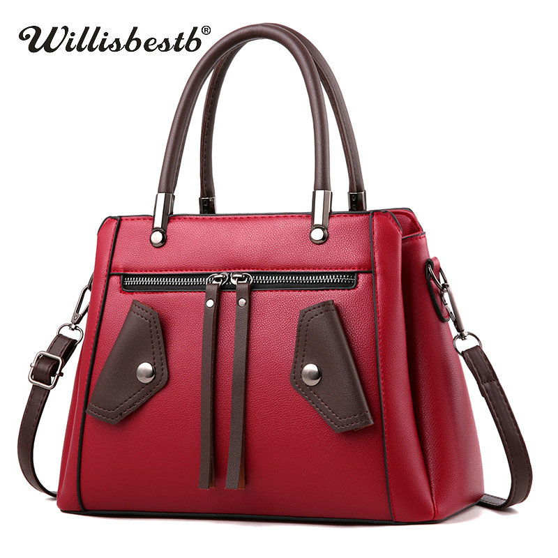Fashion Women Handbag Casual Soft Leather Female Messenger Bag Clutch Design Woman Crossbody Bags Ladies Shoulder Bags For Girls 2016 women fashion brand leather bag female drawstring bucket shoulder crossbody handbag lady messenger bags clutch dollar price