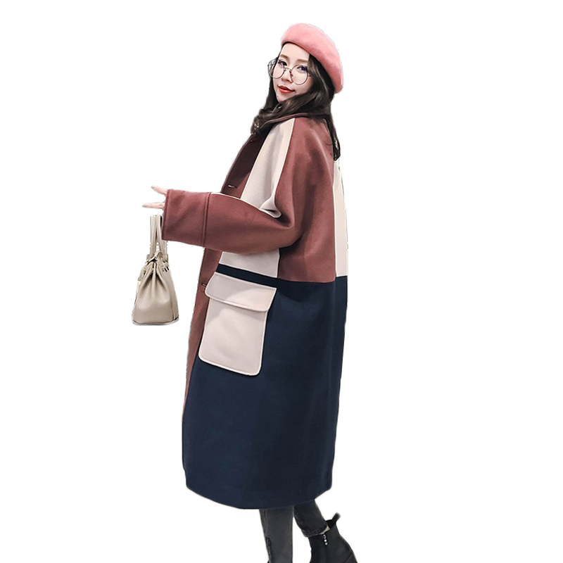 Winter jacket coat for women 2018 autumn fashion single-breasted woolen coat women basic jackets female long wool & blends coats
