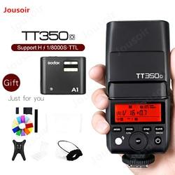 Godox TT350O GN36 HSS TTL Speedlite z X1 System lampy błyskowej Godox A1 telefon Flash dla Olympus dla iPhone 6 s 7 s 8 X CD50