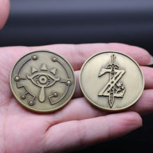Game The Legend of Zelda Coin Breath of The Wild Collect Coin Commemorative Coins Tossing Badge Christmas Fans Gift 4CM Metal(China)