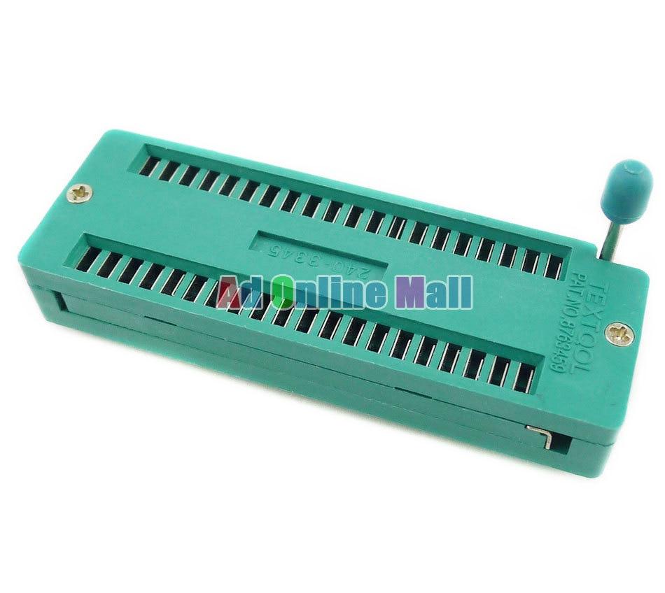 10pcs 40p ic universal zif test locking socket integrated circuit 10pcs 40p ic universal zif test locking socket integrated circuit ic socket for dip ic mcu fandeluxe Images