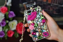 3D Cute Bling Crystal Perfume Bottle Back Case Cover for Samsung Galaxy Note 7 5 4 3 2 S7 S6 Edge Plus S5/4/3 A8/7/5/3