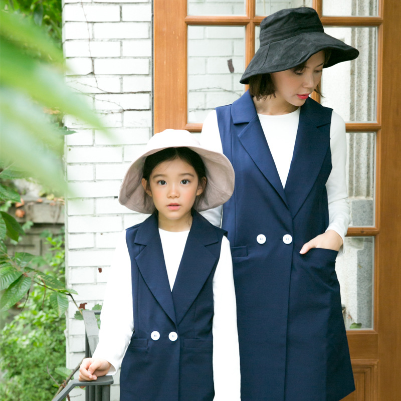 Mommy and Me Mother Daughter Clothes Outfits Girls Children Clothing Suits for 2017 Autumn Family Matching Outfits Vest Sets|mother daughter clothes|mommy and me|mother daughter - title=