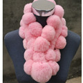 New Arrival Cute Rabbit Fur Scarves For Women Natural Rabbit Fur Ring Ball Scarves Women Winter Warm Scarf 75*13cm