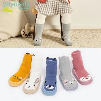 Kid Cartoon Socks Shoes Children Infant Soft Anti Slip Warm Cotton Knitting Winter Floor Baby Girl Boy