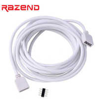 1m 2m 5m 30cm 4 pin led connector RGB led strip Extension Cable cord Wire 4pin for SMD 5050 3528 2835 RGB LED Strip light