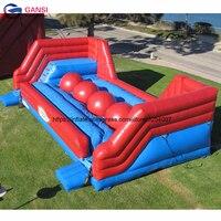 10*3*2,5 м коммерческие надувные препятствий Бег мяч, открытые спортивные игры, надувные wipeout мяч с вентилятором
