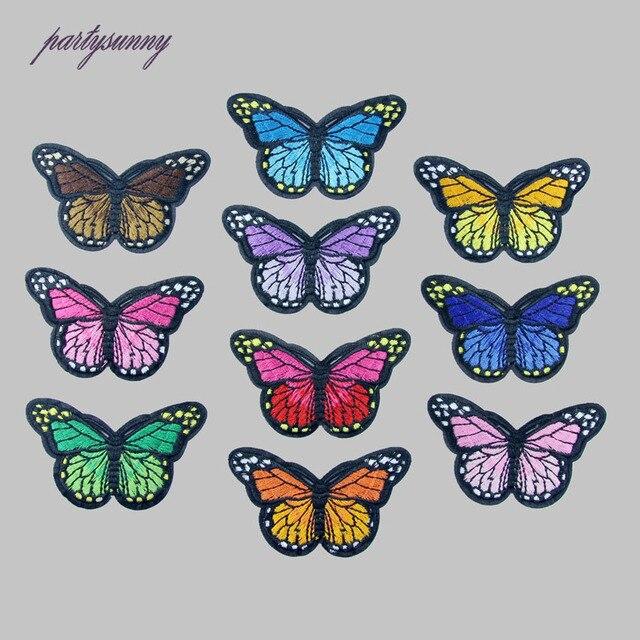 Onwijs Multicolor Vlinder Borduren Patch Ijzer/Naai Op Patches Voor FU-63
