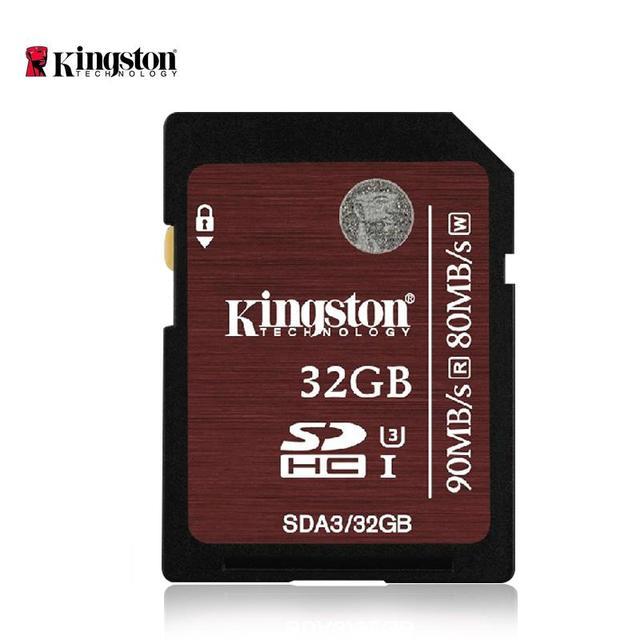 Kingston sd hc sdhc xc sdxc uhs-i U3 SDHC/SDXC Профессиональный HD фотографии Высокая скорость карта 16 ГБ 32 ГБ 64 ГБ класс 10 класс 90 м/с