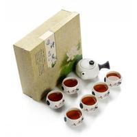 Bone China Kung Fu Tee Set Porzellan Teegeschirr Set Chinesische Traditionen Gai Wan Tee Tasse Tee Sets Gaiwan Tee Topf set Geschenk Für Freund-in Teegeschirr-Sets aus Heim und Garten bei