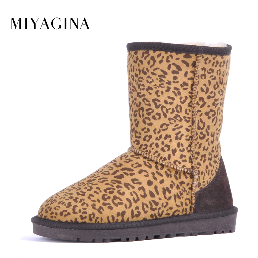 Top Quality New Fashion Natural Fur Waterproof Mujer Botas Classic Genuine Sheepskin Leather Snow Boots Winter Women Shoes sexemara brand 2016 new collection winter boots for women snow boots genuine leather ankle boots top quality plush botas mujer
