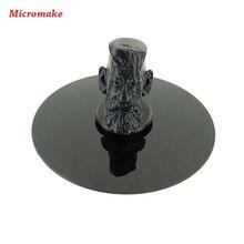 Micromake 3D Аксессуары Для Принтеров Печати Платформы Черный Кристалл Панели Диаметр 20 см толщина 4 мм