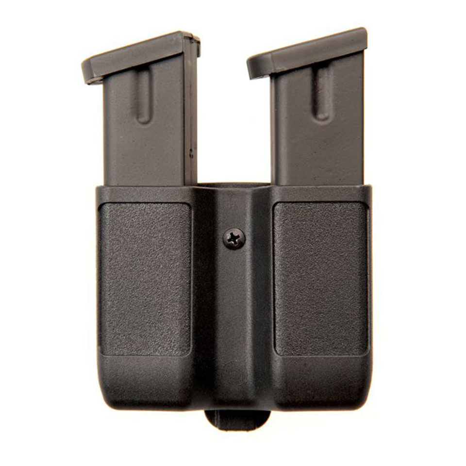 Tactical Quick Draw Double Magazine Pouch Double Stack Polymer Pistol Cartridge Clip Holder for 1911 M92 P226 Glock USP image