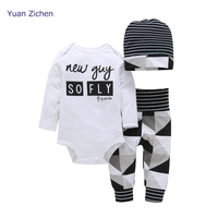Infant Clothing Boy Romper Pants Hats 3Pcs Christmas Costumes Baby Clothing For Kid Suit Of Snow