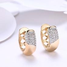 LJ&OMR Wholesale Jewelry New Series Romantic Gold Plating Earrings for Women Brincos Luxury Cubic Zirconia