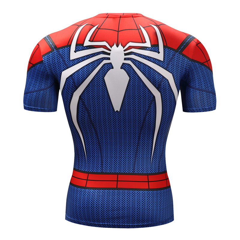Spiderman 3D t shirts Men Compression Short Sleeve T-shirts Superhero Quick Dry Tops Bodybuilding Fitness Tshirts Tees ZOOTOP 1