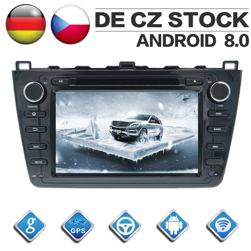 2 Din 4G + 32G Android 8.0 autoradio pour Mazda 6 Atenza 2008 2009 2010 2011 2012 Quad Core GPS Navigation lecteur CD DVD Bluetooth