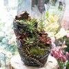 Large Desktop Fairy Garden Resin Flower Pot Indoor Vertical Plant Decoration Planter Cottage Broken Bucket Succulents